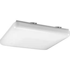 "Three-Light Acrylic Square 15"" CFL Close-to-Ceiling"