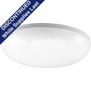 "14"" Round Cloud CFL Two-Light Close-to-Ceiling"