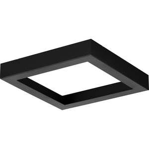 "Everlume Collection Black 7"" Edgelit Square Trim Ring"
