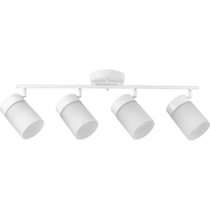 Ridgecrest Collection Satin White Four-Head Multi-Directional Track
