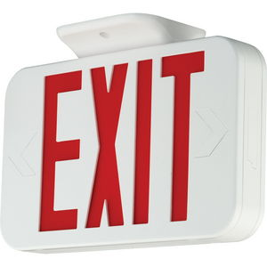 LED exit sign with red letters