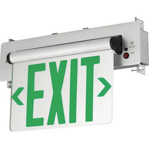 Edge-Lit LED Emergency Exit Recessed Wall or Ceiling