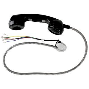 Handset Assembly, Black, 5' Armored Cord