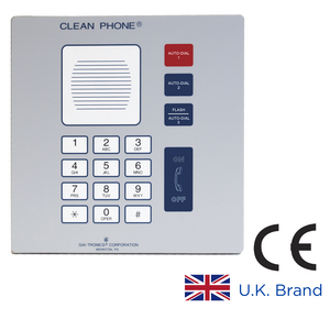 Clean Phone® VoIP Telephone, 14 Button, Flush-Mount, CE certified RoHS compliant