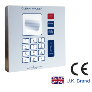 Clean Phone® VoIP Telephone, 14 Button, Surface-Mount, CE certified RoHS compliant