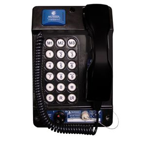 Auteldac 4 (VoIP), black, curly cord (0.32 up to 1 metre), 18 button, ATEX, noise cancelling