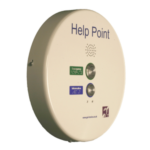 PHP Help Point (VoIP), white, 2 button, induction loop (requires 48 VDC)