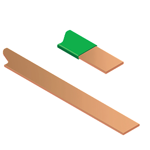 Copper Tape with Green PVC coating