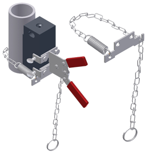 Vertical Chain Clamp for Mini Handle Clamp