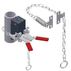 Split Vertical Chain Clamp for Mini Handle Clamp
