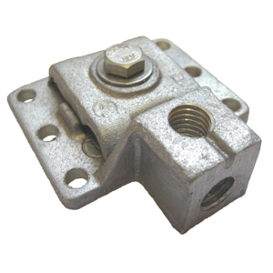 "Aluminum Dual Mount Base for 1/2"" Air Terminal"