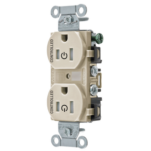 hubbell wiring br15whi double pole straight blade duplex receptacle