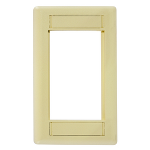 iSTATION, Front Loading Module Frame, 1-Gang, Electric Ivory