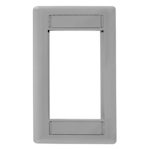 iSTATION, Front Loading Module Frame, 1-Gang, Gray