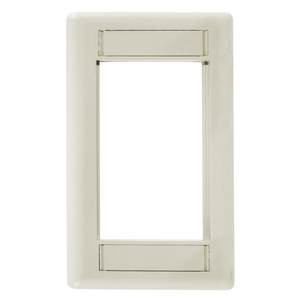 iSTATION, Front Loading Module Frame, 1-Gang, Light Almond/Office White