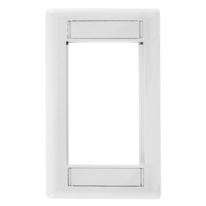 iSTATION, Front Loading Module Frame, 1-Gang, White