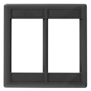 iSTATION, Front Loading Module Frame, Double-Gang, Black
