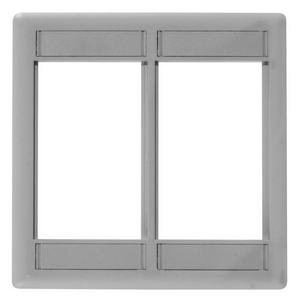 iSTATION, Front Loading Module Frame, 2-Gang, Gray