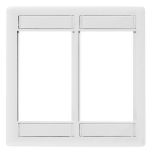 iSTATION, Front Loading Module Frame, 2-Gang, White