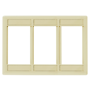 iSTATION, Front Loading Module Frame, 3-Gang, 3-Unit, Electric Ivory