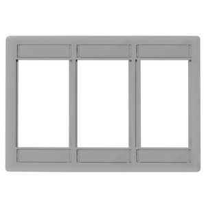 iSTATION, Front Loading Module Frame, 3-Gang, 3-Unit, Gray