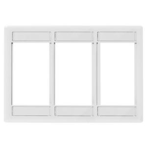 iSTATION, Front Loading Module Frame, 3-Gang, 3-Unit, White
