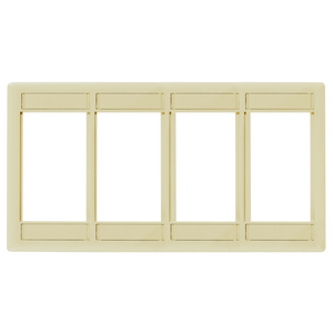 iSTATION, Front Loading Module Frame, 4-Unit,Electrical Ivory