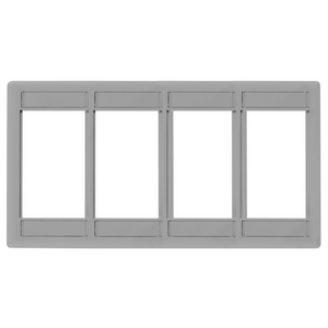 iSTATION, Front Loading Module Frame, 4-Unit,Gray