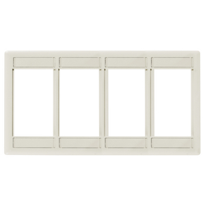 iSTATION, Front Loading Module Frame, 4-Unit,Light Almond/Office White