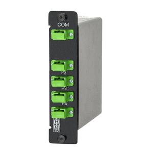 Fiber Optic Splittler 1:4 LGX 1x Format, SC/APC with Green ports, 0.2 dB loss