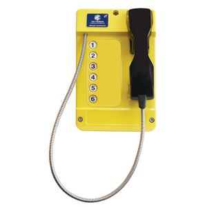 Commander (VoIP) yellow, steel cord, 6 button (CB) - CE Marked