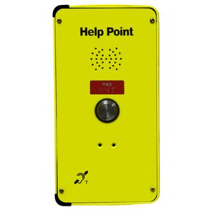 DDA Help Point (SMART analogue), yellow, 1 button, hands-free (faceplate only)