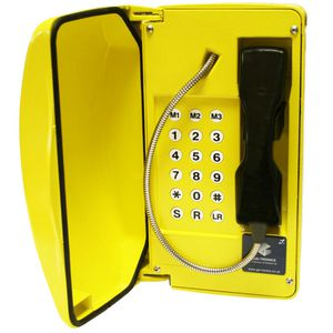 Titan (VoIP) yellow, steel cord, 18 button (CE Marked)