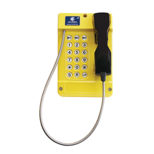 Commander (VoIP) yellow, steel cord (0.745 metre), 18 button (CE Marked)