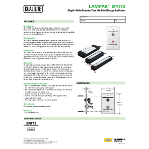 Lampak SPRTS Specification Sheet
