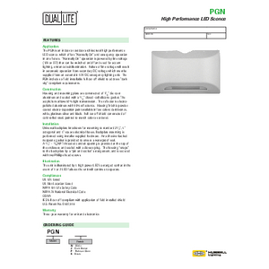 PGN Specification Sheet