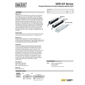 UFO-CF Series Specification Sheet