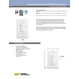 IWSZP3P Specification Sheet