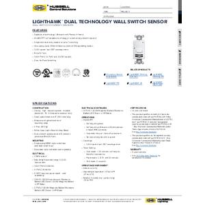LightHAWK Dual Tech Spec Sheet