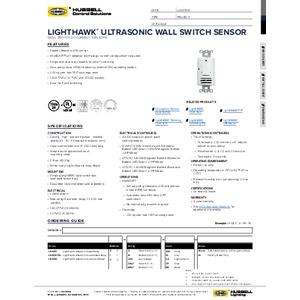 LightHAWK Ultrasonic Spec Sheet