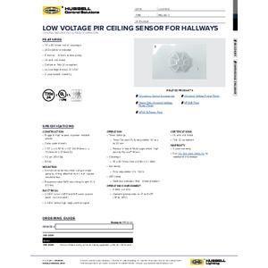 PIR1000H Specification Sheet