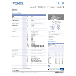 13L-P Specification Sheet
