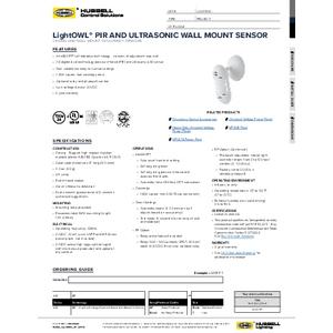 LightOWL DT Specification Sheet