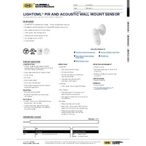 LightOWL DIA Specification Sheet