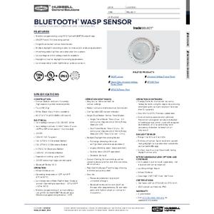 Bluetooth® WASP Sensor Specification Sheet