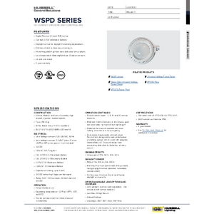 Dimming WASP Specification Sheet