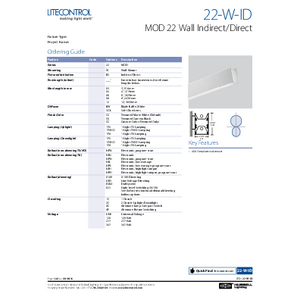 22-W-ID Spec Sheet