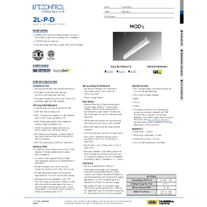 2L-P-D Specification Sheet