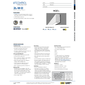 2L-W-D Specification Sheet