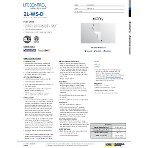 2L-WS-D Specification Sheet